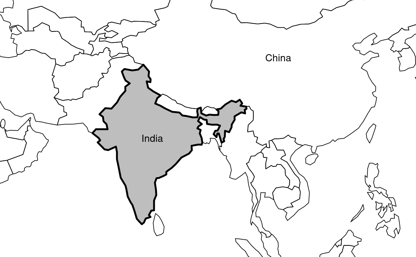India in context, demonstrating the expandBB argument.